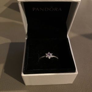 Pandora purple flower ring size 58/8.5